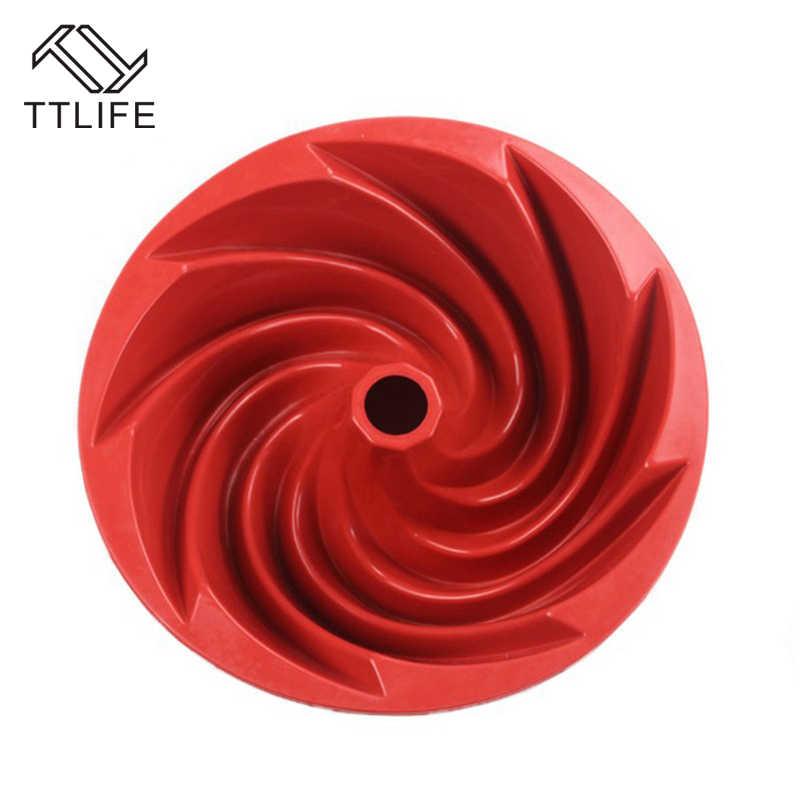 Molde de cozimento de silicone molde de cozimento em forma de flor em forma de espiral bolo pan decoração do bolo de bundt molde