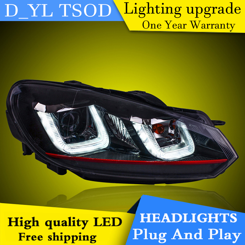 Car Styling Headlights for VW Golf 6 2010 2012 LED Headlight for Golf 6 Head Lamp