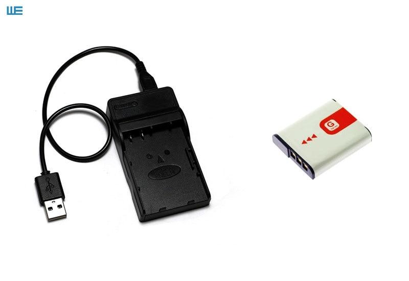 Battery Charger NP-BG1 USB Sony CyberShot DSC-HX20V DSC-W215 DSC-WX10V