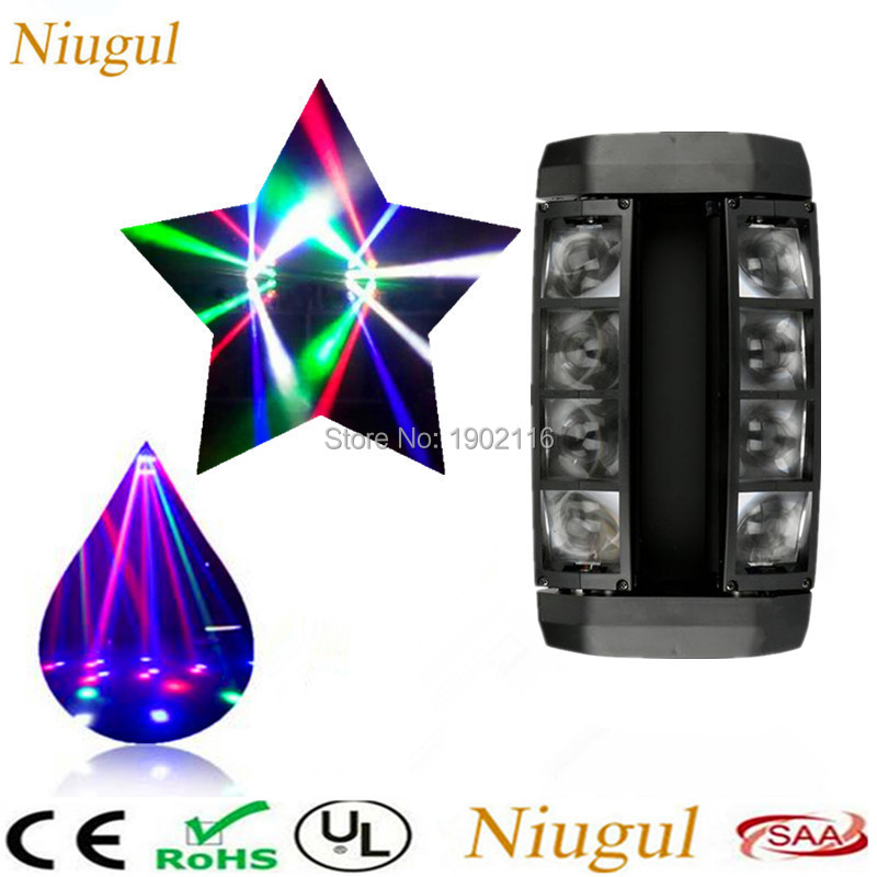 Mini LED Spider Light 8X10W LED Beam Moving DMX Stage Lights Business Light High Power Light With Professional For KTV Disco DJ 6pcs power drill