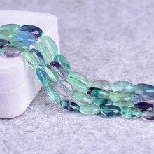 ICNWAY 12*16mm  natural gemstone  fluorite rose quartz oval loose beads DIY bracelet necklace earrings making jewelry 15inch