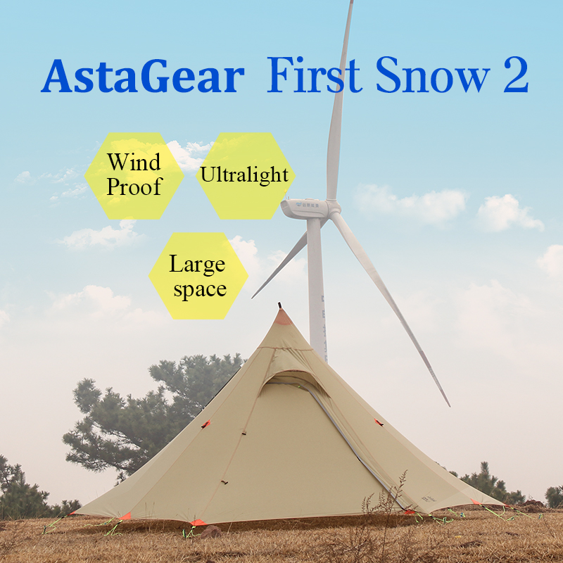 AstaGear First Snow Outdoor Tent Ultralight Portable Camping Tent 20D Silicone Waterproof Portable 1 2 Persons