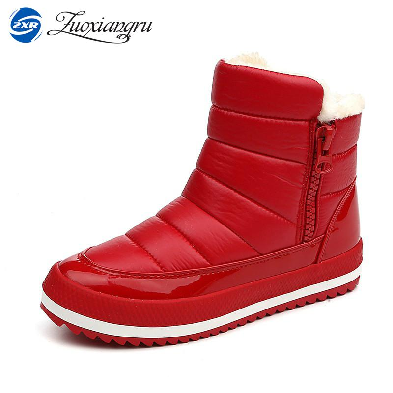 cb28cf983c16 Zuoxiangru Women Boots 2017 Warm Winter Boots Women Ankle Botas Cotton Waterproof  Female Mujer Winter Snow Shoes