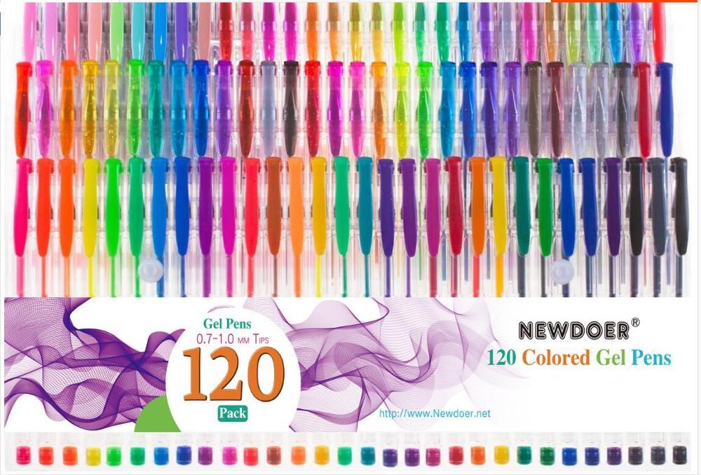 120pc set unical color gel pen metal color filling pen flash gel pen stationery gift student