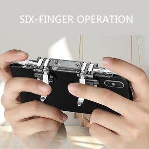 Image 4 - One piece 6 doigt Pubg Mobile contrôleur de jeu téléphone manette de jeu gachette L1 R1 visée/tireur bouton Joystick pour IPhone Android