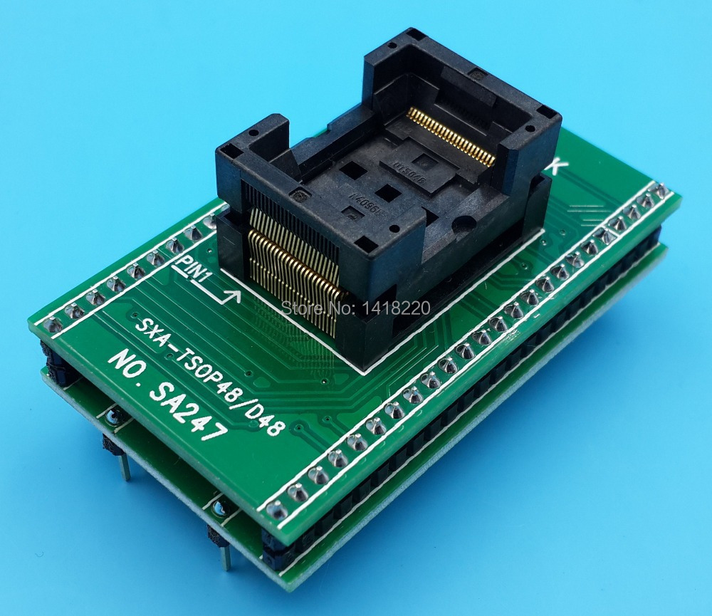 Free Shipping 1Pcs TSOP48 TO DIP48 TSSOP48 IC Test Socket Programming Adapter 0.5 Pitch tsop48 to dip48 pitch 0 5mm chip programmer adapter sa247 ic test socket