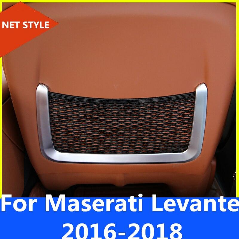 2018 Maserati Levante Interior: Matte Style Seat Back Rear Net Mesh Storage Bag Decoration