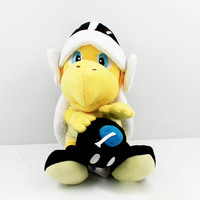 Super Mario Bros Koopa Troopa Landmine Skull Turtle 1pc 20cm Plush Toy Stuffed Animal Toys Doll