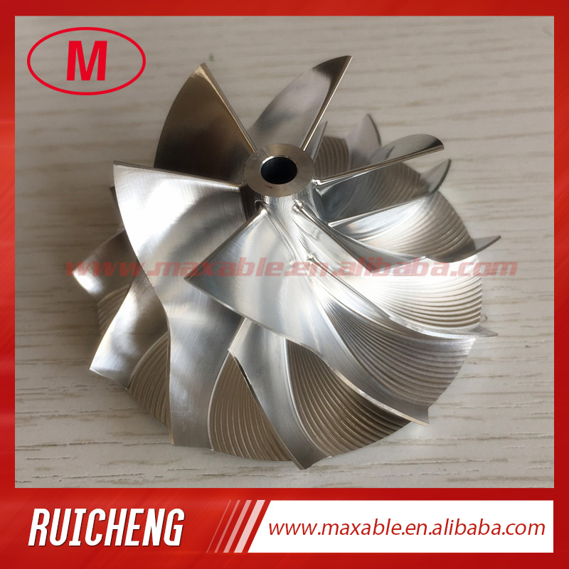RHF5 45.00/64.89mm  6+6 blades  high performance turbo turbocharger aluminum 2618/Billet/milling compressor wheel-in Air Intakes from Automobiles & Motorcycles    1