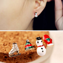 2019 Top Fashion Alexandrite Brinco Selling Europe And The Sell Like Hot Cakes Fashion Stud Earrings Lovely Drip Santa Claus недорого