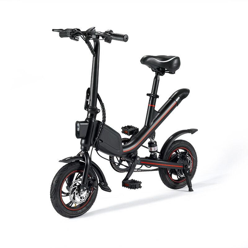 Janobike pliant vélo électrique batterie au lithium cyclomoteur mini adulte batterie voiture hommes et femmes petite voiture électrique