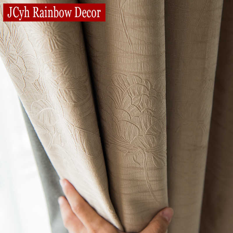 JCyh Solid Blackout Curtains For Living Room Bedroom Modern Blackout Curtains For Window Treatment Drapes Blinds Shading 85%