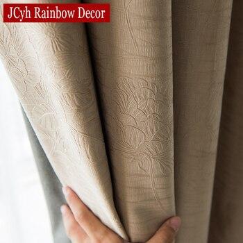 Cortinas opacas sólidas JCyh para sala de estar dormitorio cortinas opacas modernas para tratamiento de ventanas cortinas persianas sombreado 85%