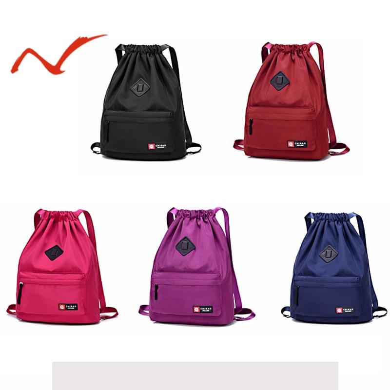 Drawstring Sports Bag Festival Backpack Nylon Softpack Gym Sports Fitness Travel Yoga Women Girls Student Bag Travel Backpack
