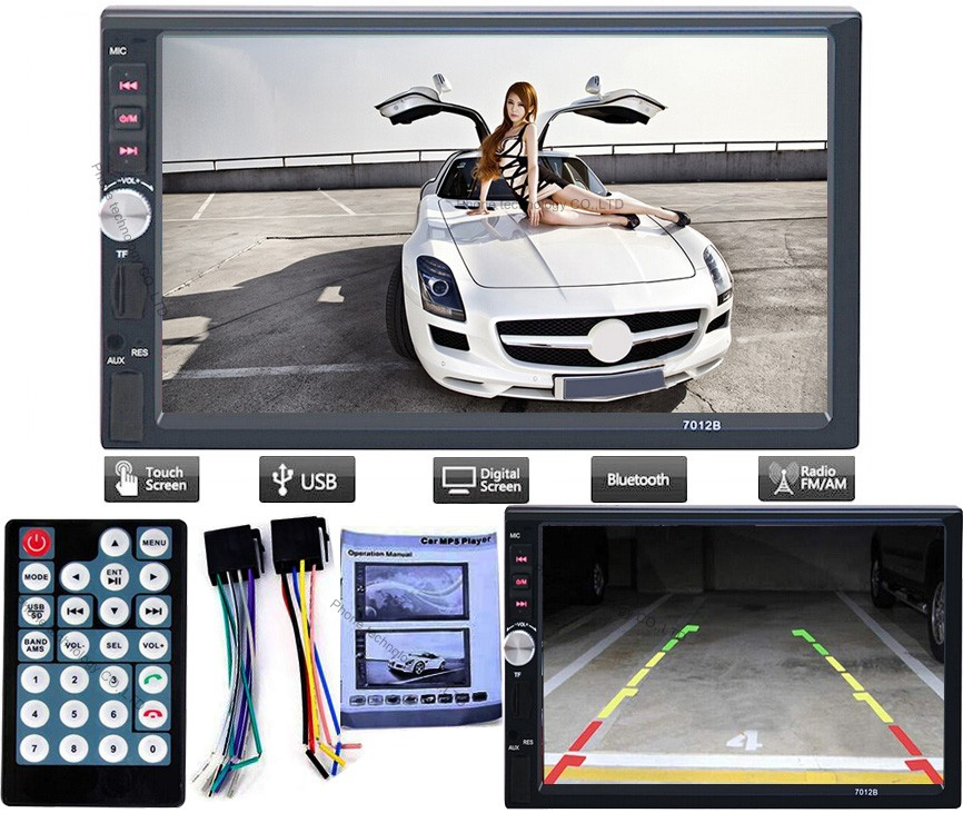 7012B 12V Bluetooth Car Radio Player Stereo FM/MP3/Audio /-Charger/ USB/SD/AUX/ Auto Electronics In-Dash autoradio 2 DIN