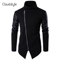 Cloudstyle 2017 New Men Jackets Autumn Spring Top Quality Full Faux Leather Sleeve Zipper Fashion Casual