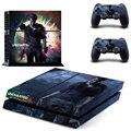 Новый uncharted 4 PS4 Наклейку Кожи Для Sony Playstation 4 PS4 Консоли защитной пленки и Покрытия Отличительные Знаки 2 Контроллер