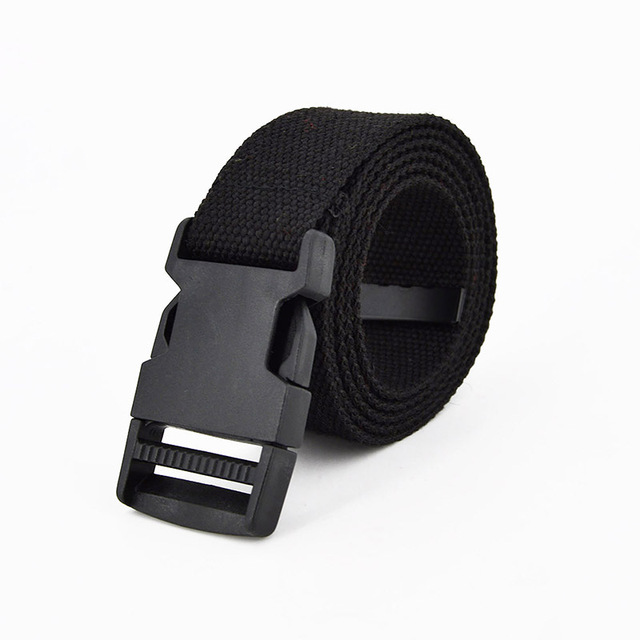 Fashion Black Canvas Belt for Casual Female Waist 2