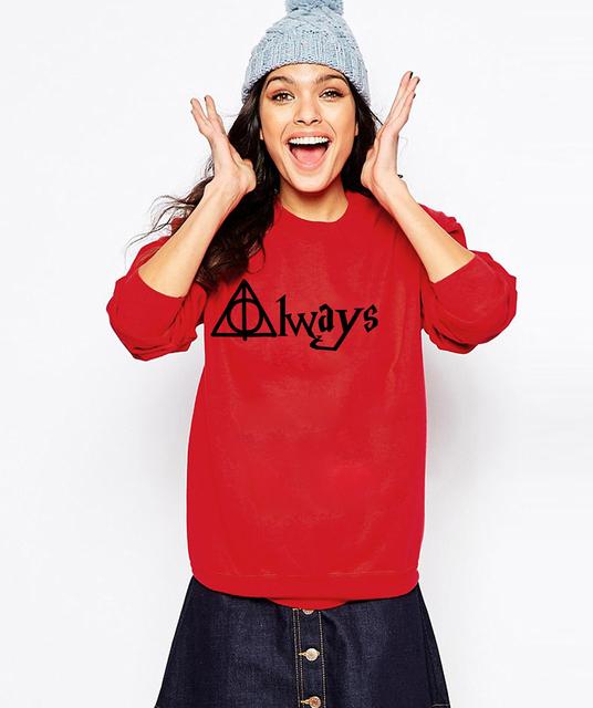 Harry Potter Always Hallows Print Women Sweatshirt