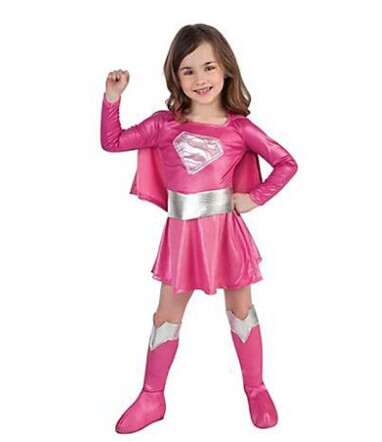 Free shipping Halloween costumes/3 6 year old super girl clothes ...