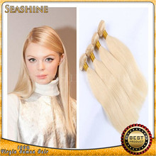 Bleach Blonde Brazilian Hair Extensions 8A Brazilian Straight Hair 10″-30″ Color 613 Blonde Human Cheap Hair Extensions