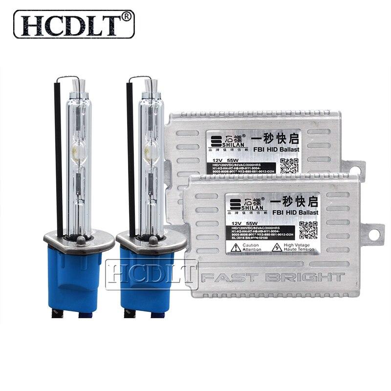 HCDLT 55W Xenon HID Conversion Kit Xenon H7 55W 5500K HID H1 H11 HB3 HB4 9012 D2H Car Light Headlamp Bulb AC Fast Start Ballast (4)