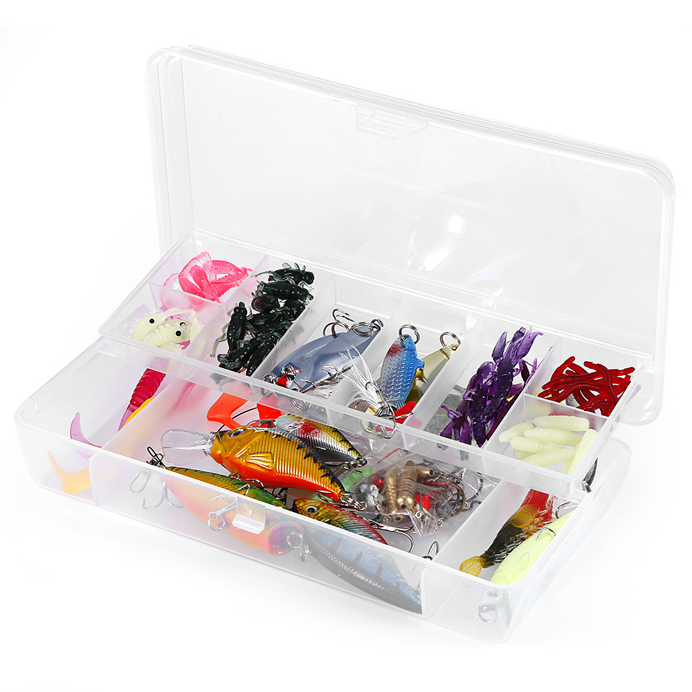 Outlife 101pcs Mixed Soft Fishing Lure Set Artificial Hard Bait Isca Fishing Kit Minnow Fishing Wobblers Hooks with Storage Box 101pcs set almighty fishing lures kit with box hard soft bait minnow spoon crank shrimp jig lure fishing tackle accessories