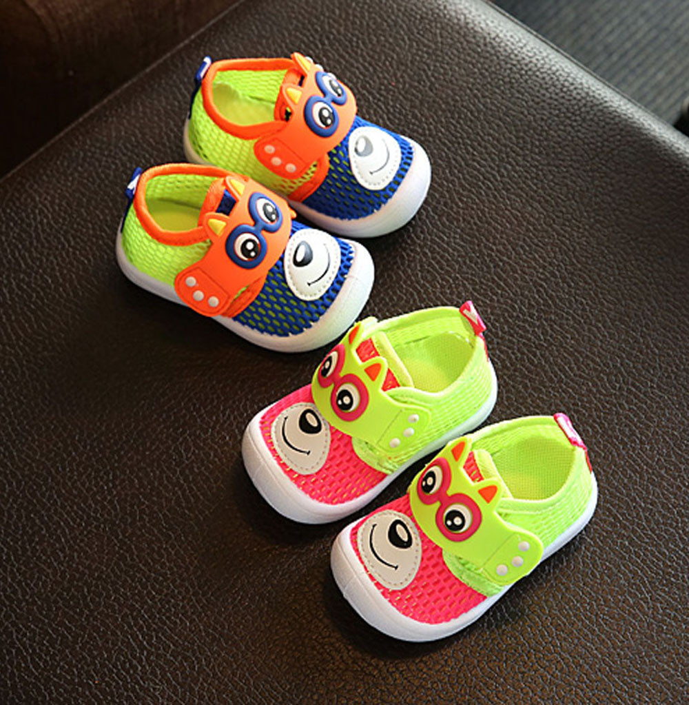 shoes for girls boys Sneakers for children Footwear for newborns Breathable Deodorant Shoes Baby Bear Pattern First Infant Shoes