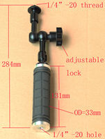 Strong DSLR Handle Grip with 7 Articulating Magic Arm for camera flash tripod