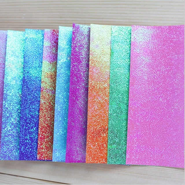 25x25cm 50pcs/Set Origami Paper Single Side Shining Folding Solid ...