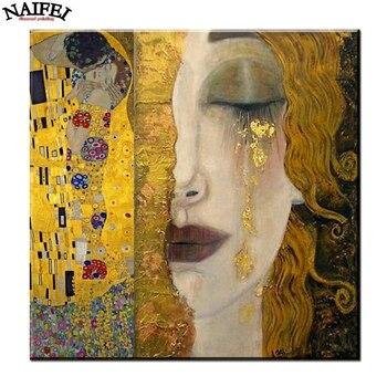 golden tears Gustav Klimt Diamond embroidery,diamond Painting rhinestone 3D picture cross stitch pattern Home decoration embroidery