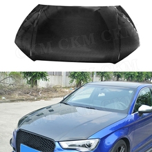 Carbon Fiber Car Front Hood Covers Bumper Engine Decoration Trims For Audi A3 S3 2013 2014 2015 2016 2017 2018