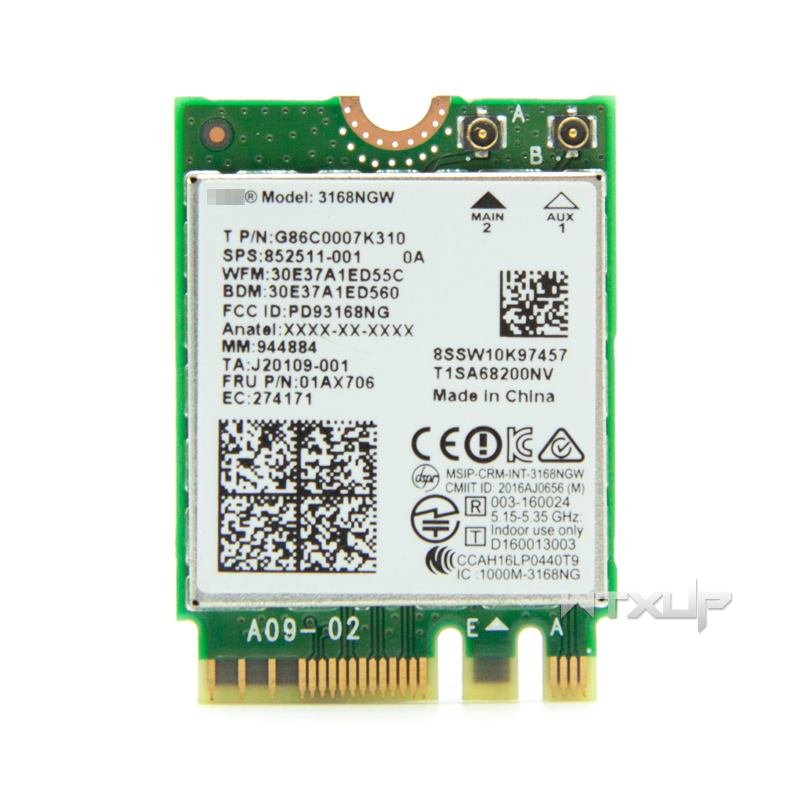 wireless adapter card for intel 3168ngw dual band wifi bluetooth 4 2