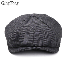 Peaky Blinders Men Berets Hat Autumn New Vintage Herringbone Octagon Cap Women'S