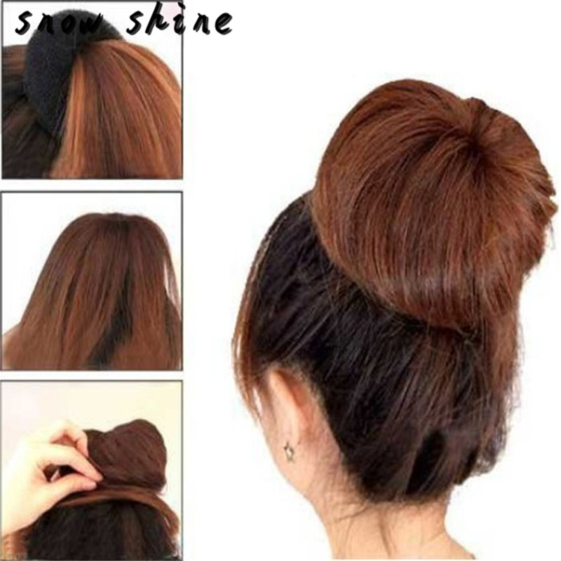 snowshine #4503 3 Pcs Sponge Women Hair Bun Ring Donut Shaper Maker 3 Sizes Coffee free shipping *cydj