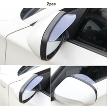 CDCOTN 2PCS Car Rearview Mirror Eyebrows Rain Cover Side Exterior Accessories Decoration Styling Auto products