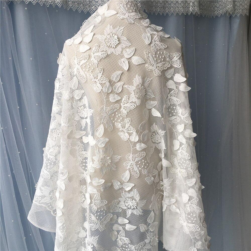 Diy Wedding Gowns: DIY NEW 3D Chrysanthemum Sequins Yarn Lace Fabric Beaded