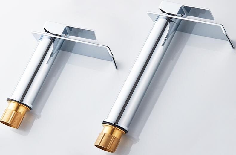 HTB1sATQbTlYBeNjSszcq6zwhFXaW Basin Faucet Gold and white Waterfall Faucet Brass Bathroom Faucet Bathroom Basin Faucet Mixer Tap Hot and Cold Sink faucet