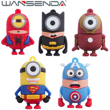 Full Capacity Super Hero USB Flash Drive 32GB 8GB 16GB 64GB 4GB Pen Drive Super Minions