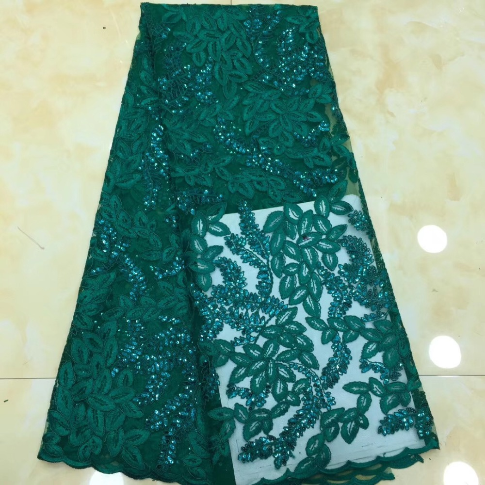 Lovely Fashion Styles For Lady Nigerian Dress High Quality Sequins African French Tulle Lace FabricLovely Fashion Styles For Lady Nigerian Dress High Quality Sequins African French Tulle Lace Fabric
