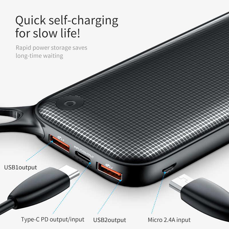 Baseus 20000 mAh Charge Rapide 3.0 batterie externe 20000 mAh USB C Povre Poverbank De Charge Portable Batterie Externe banque d'alimentation de chargeur