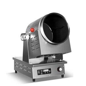 Inteligencia comercial, olla eléctrica multifunción automática antiadherente para freír huevo, arroz, cocinar, en forma de tambor, máquina para freír