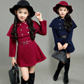Fashion winter cape long sleeve autumn korean dress	girls clothes size 12 14 clothing set