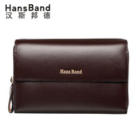 Famous Brand Men High Quality Capacity Wallets Cowhide Clutch Bag Genuine Leather Bag Luxury Handbag Double