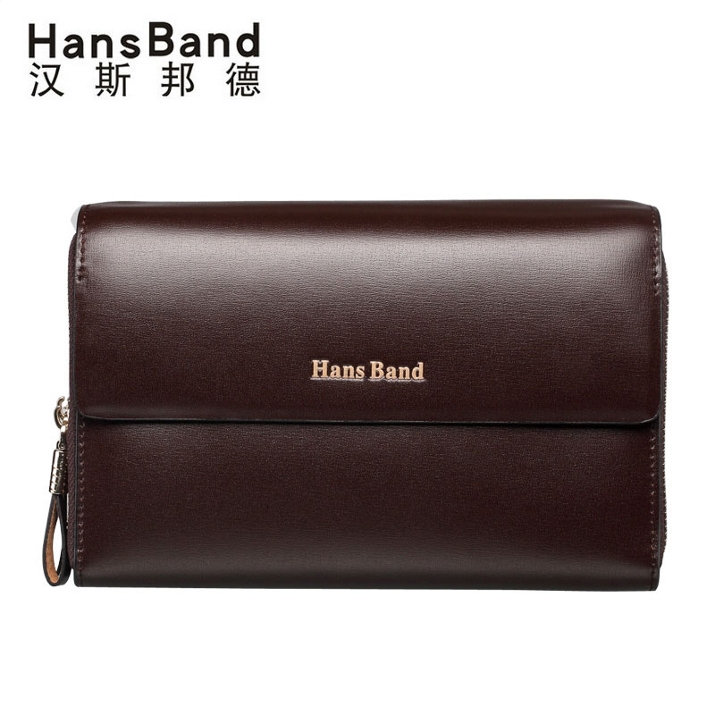 Famous Brand Men High Quality Capacity Wallets Cowhide Clutch Bag Genuine Leather Bag Luxury Handbag Double Zipper Clutch Purses banlosen brand men wallets double zipper vintage genuine leather clutch wallets male purses large capacity men s wallet
