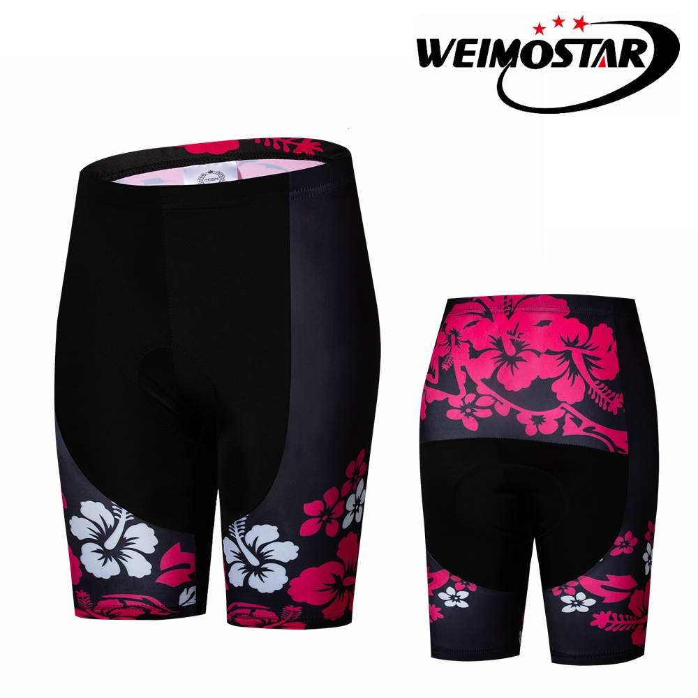 Weimostar Coolmax 5D Padded Cycling Shorts Shockproof MTB Bicycle Shorts Road Bike Shorts Ropa Ciclismo Tights For Women Black