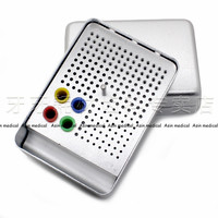High Quality 2017 New Free shipping 180 Holes Dental Endo Box FG Burs Holder Autoclave Disinfection Box