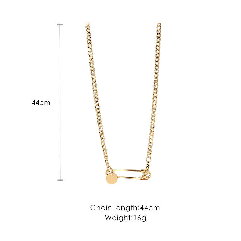 Paper clip pendant temperament personality creative clavicle chain fashion simple versatile pendant clavicle chain female