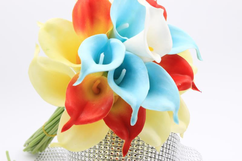 10 PCS / Lot Real Touch Calla Lily flowers Bridal bridesmaids ...