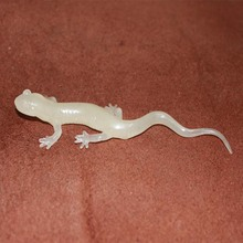 PVC figure Doll model toy The simulation model toy lizard reptile luminous white mold for diy